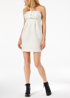 Armani Exchange Studded Strapless Shift Dress
