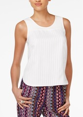 Armani Exchange Textured-Stripe Tank Top