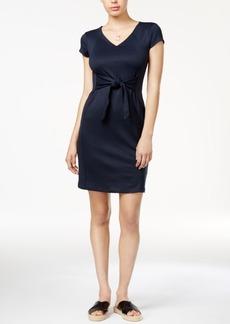 Armani Exchange Tie-Front Dress