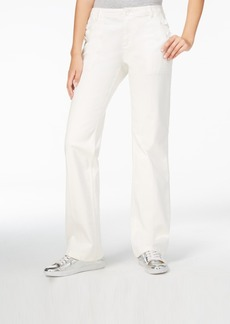 Armani Exchange White Wash Flare-Leg Jeans
