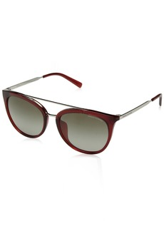A X Armani Exchange Women's AX4068SF Round Asian Fit Sunglasses