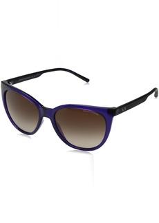 Armani Exchange Women's Plastic Woman Sunglass Cateye Sunglasses TRANSPARENT PURPLE