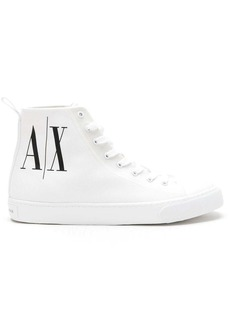 Armani Exchange logo-print high-top sneakers