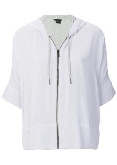 Armani Exchange zipped hooded sweater - Grey