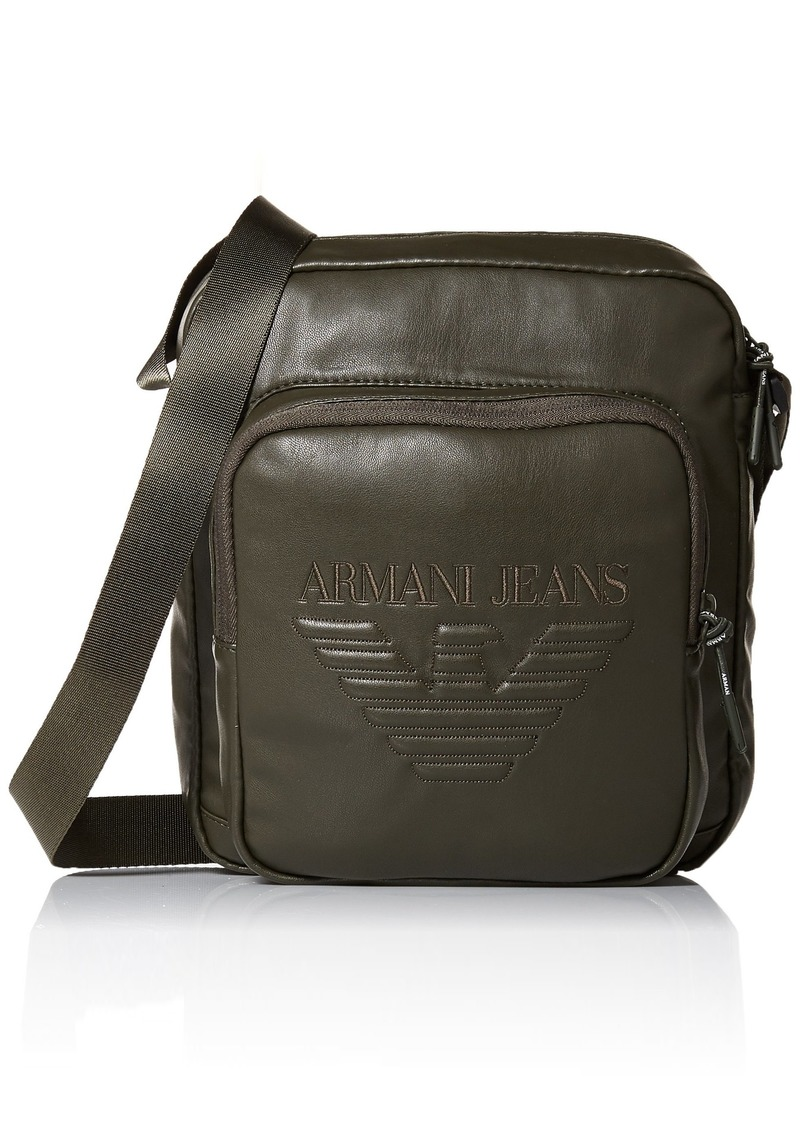 6996f0d84130 Armani Exchange Armani Jeans Men s Crossbody Bag with Embossed Logo ...