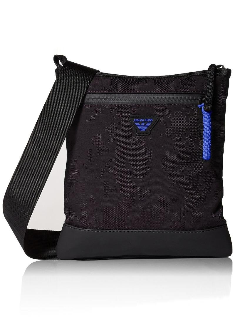 77c6fb168 Armani Exchange Armani Jeans Men's Jacquard Fabric and Rubberized Pouch Bag