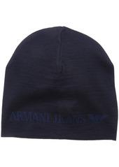 Armani Exchange Armani Jeans Men's Wool Blend Knit Logo Hat