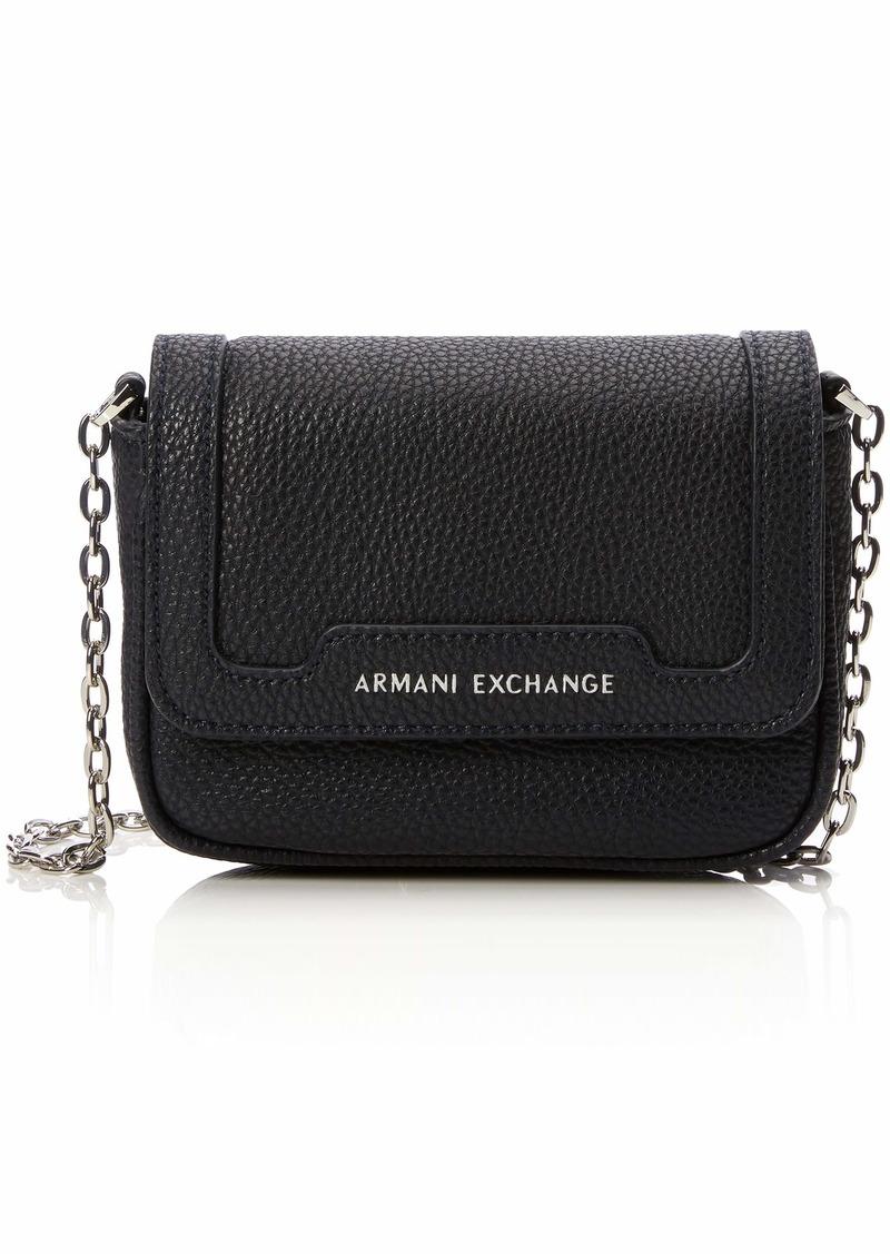 A|X Armani Exchange Chain Strap Small Crossbody Bag Navy 254
