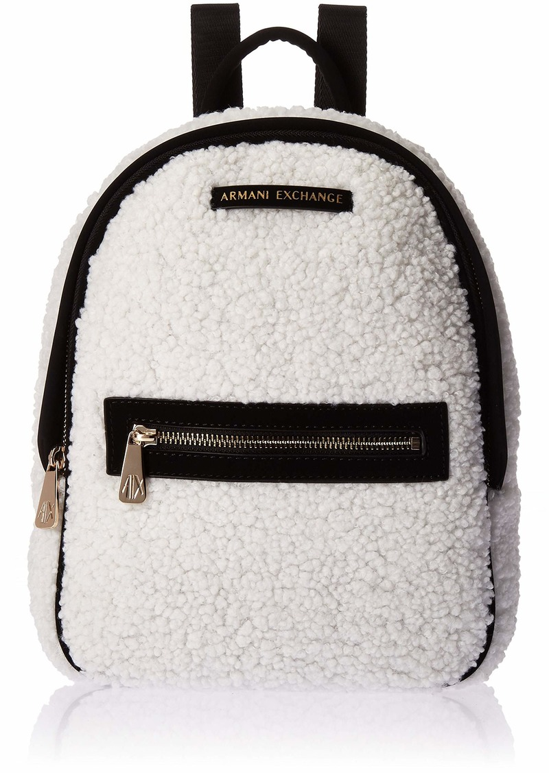 A|X Armani Exchange Faux Shearling Backpack