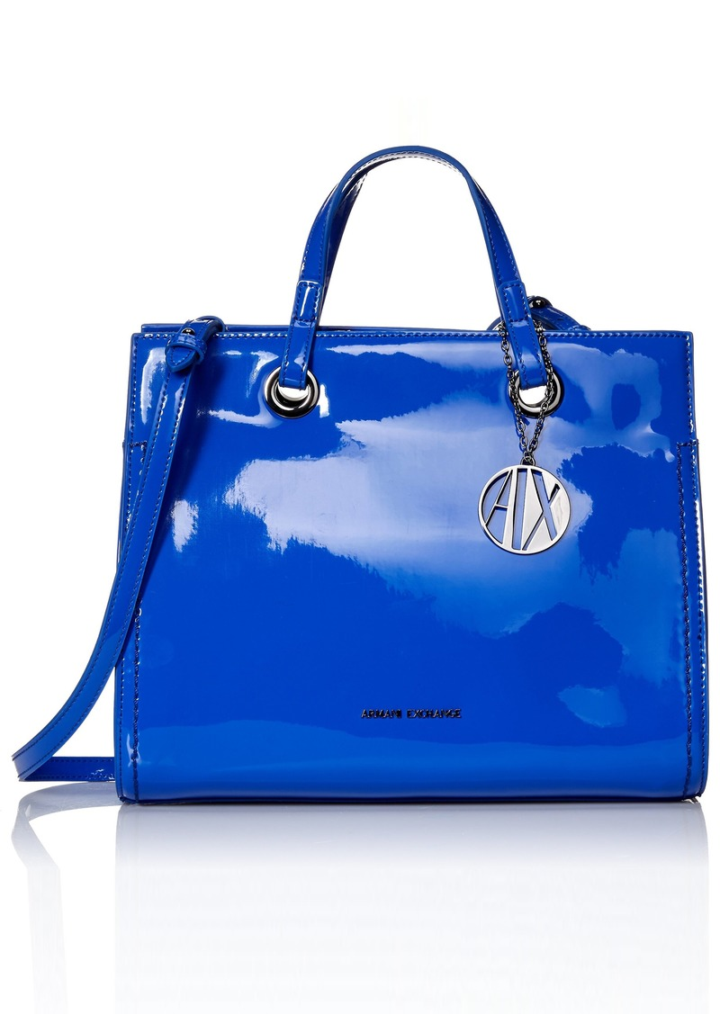 A|X Armani Exchange Medium Patent Shopping Bag