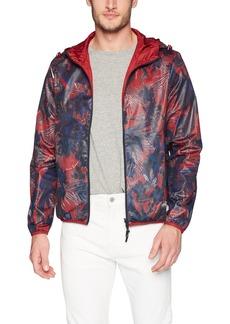 A|X Armani Exchange Men's Abstract Floral Print Jacket  L