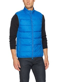 A|X Armani Exchange Men's All Over Logo Printed Puffer Vest CLAS.B/CLAS.B.PNT/SK