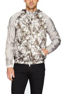 A|X Armani Exchange Men's All Over Printed Eagle Camo Jacket Beige