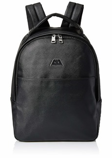 A|X Armani Exchange Men's Allover Classic Print Backpack black