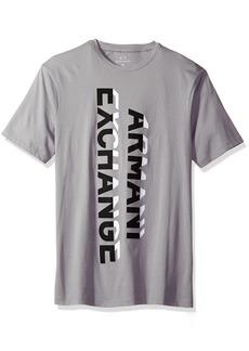 A|X Armani Exchange Men's Armani Exchange Vertical Graphic Jersey Tee