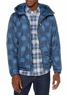 A|X Armani Exchange Men's Asymetric Zip Ribbed Puffer Jacket  XS