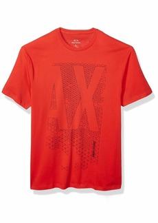 A|X Armani Exchange Men's  AX Geometric Logo Crew Neck T-Shirt  L