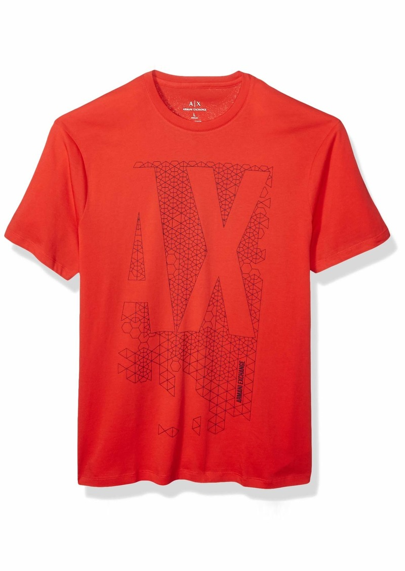 A|X Armani Exchange Men's  AX Geometric Logo Crew Neck T-Shirt  L