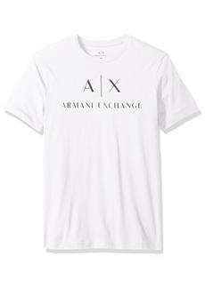 A|X Armani Exchange Men's AX Logo Crew Neck Short Sleeve Jersey T-Shirt