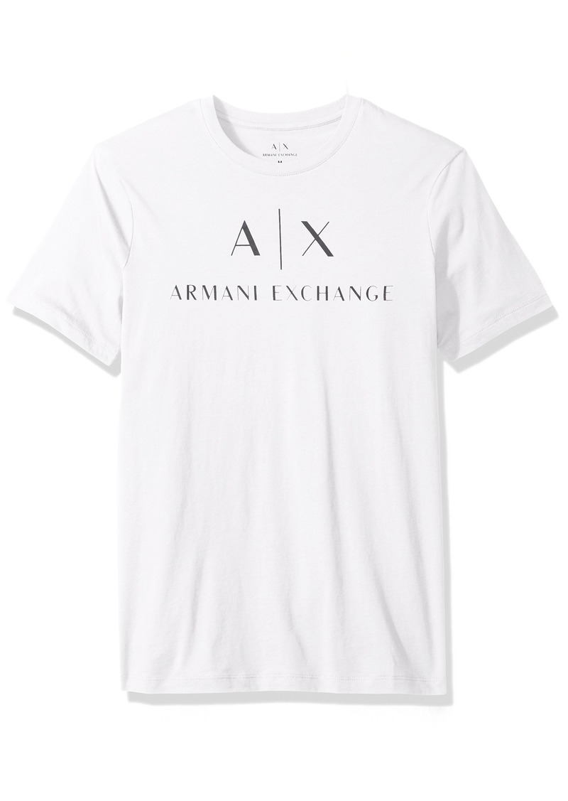 A|X Armani Exchange Men's AX Logo Crew Neck Short Sleeve Jersey T-Shirt