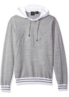 A|X Armani Exchange Men's Ax Logo Hoodie Sweater Knit