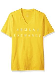 A|X Armani Exchange Men's Basic Logo V Neck Tee