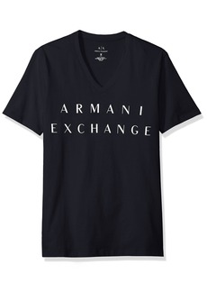 A|X Armani Exchange Men's Basic Logo V Neck Tee