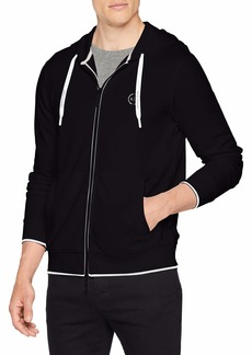 A|X Armani Exchange Men's Basic Zip up Hoodie with Chest Logo  L