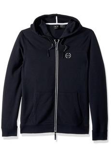 A|X Armani Exchange Men's Basic Zip Up Hoodie with Chest Logo  XXL