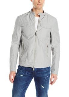 A|X Armani Exchange Men's Bi Color Nylon Zip Up Jacket