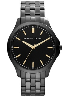 AX Armani Exchange Men's Black Ion-Plated Stainless Steel Bracelet Watch 45mm AX2144