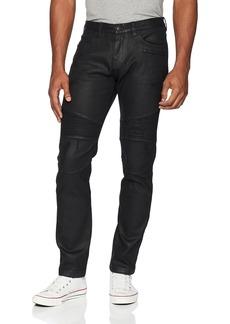 A|X Armani Exchange Men's Black Motorcycle Jeans