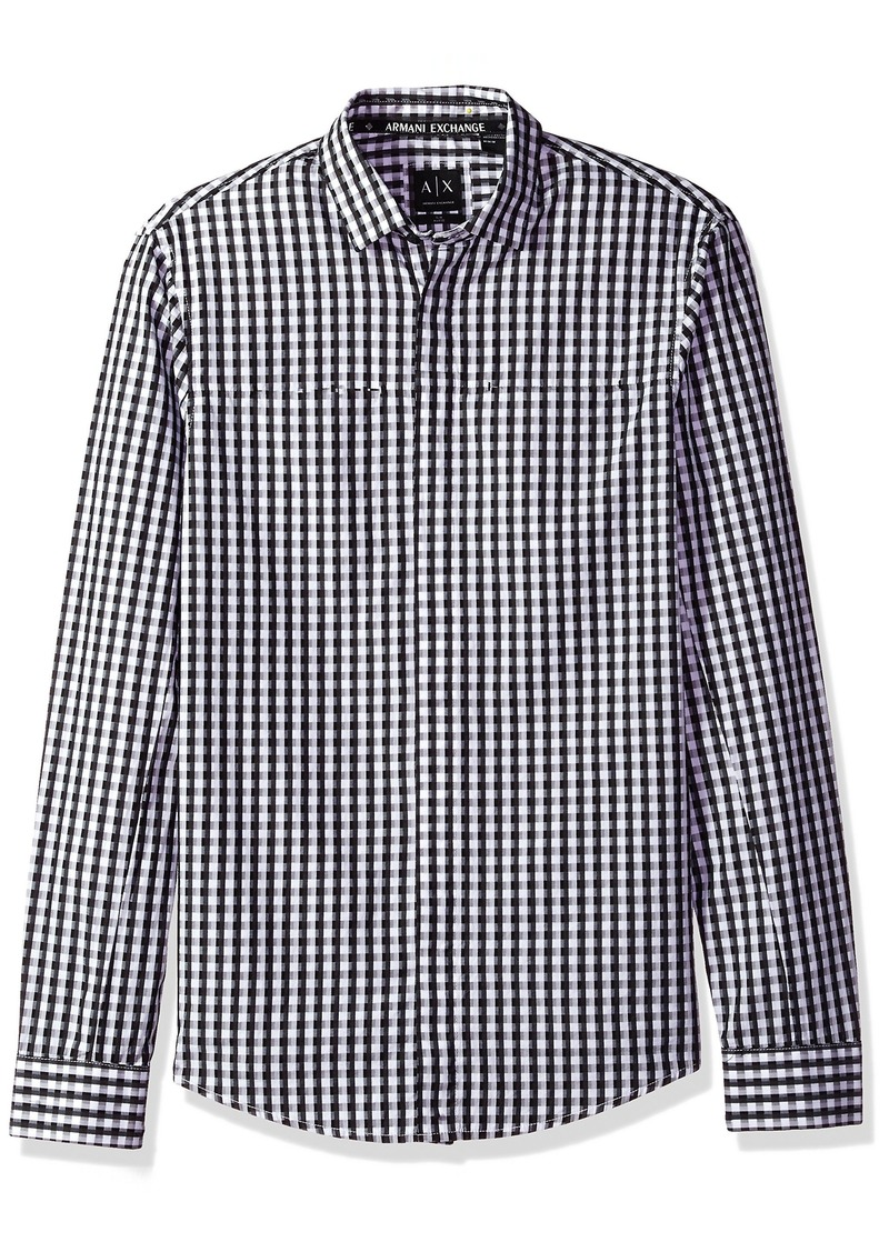 x Men's Armani Fit A Long Slim Check Exchange Plaid EC6Zq6wTx