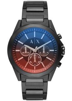 AX Armani Exchange Men's Chronograph Black Stainless Steel Bracelet Watch 44mm