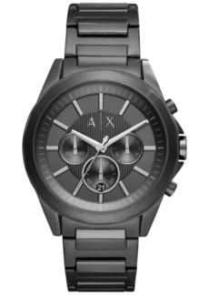 AX Armani Exchange Men's Chronograph Black Stainless Steel Bracelet Watch 44mm AX2601