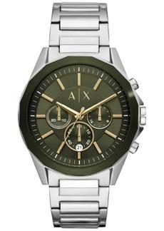 AX Armani Exchange Men's Chronograph Drexler Stainless Steel Bracelet Watch 44mm