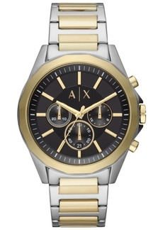 AX Armani Exchange Men's Chronograph Drexler Two-Tone Stainless Steel Bracelet Watch 44mm