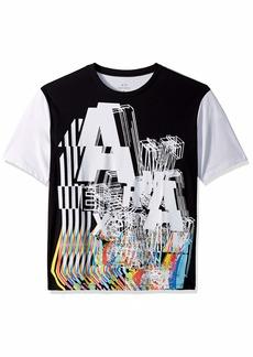 A|X Armani Exchange Men's City Vibe Graphic tee Black Front White BAC XL