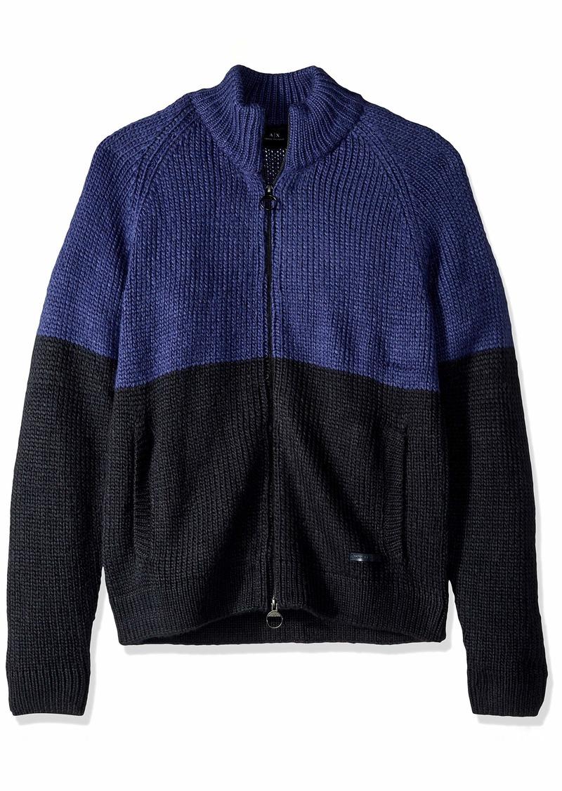 A|X Armani Exchange Men's Colorblock Zip Sweater  M