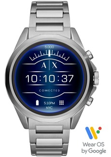 AX Armani Exchange Men's Connected Stainless Steel Bracelet Touchscreen Smart Watch 48mm, Powered by Wear Os by Google