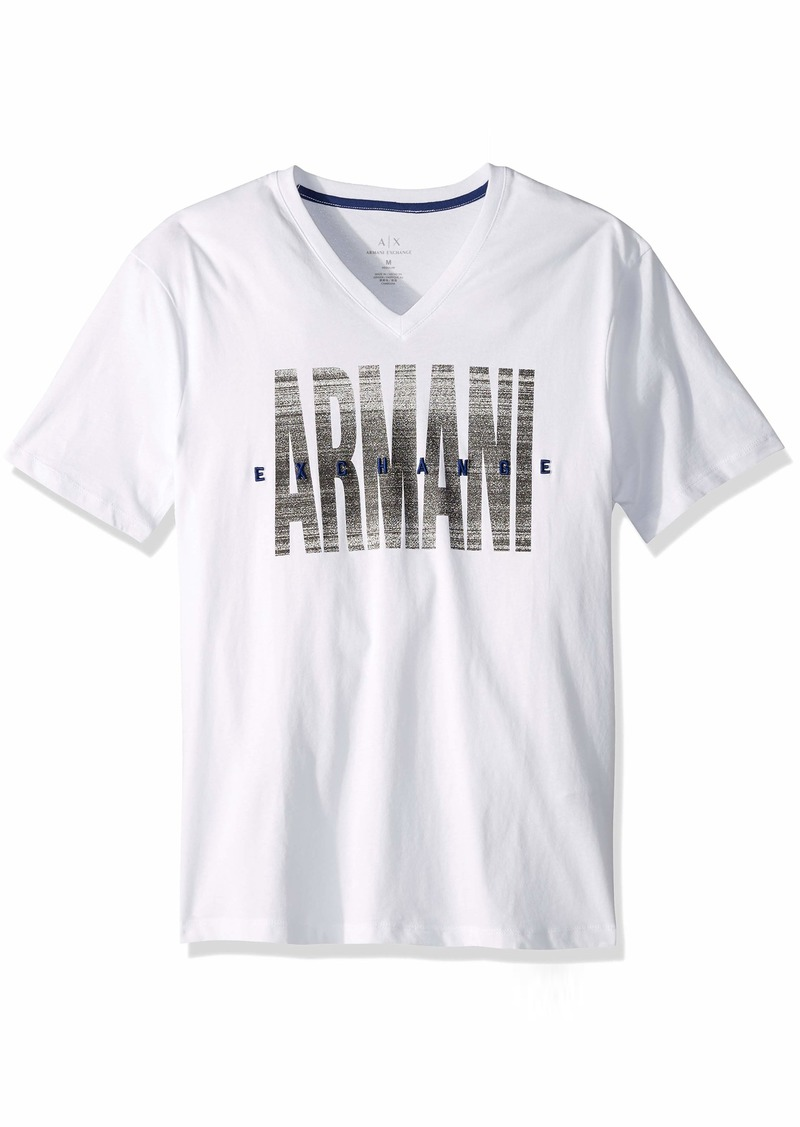A|X Armani Exchange Men's Contrast V Neck tee  XS