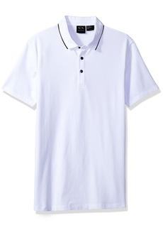 A|X Armani Exchange Men's Short Sleeve Jersey Knit Polo