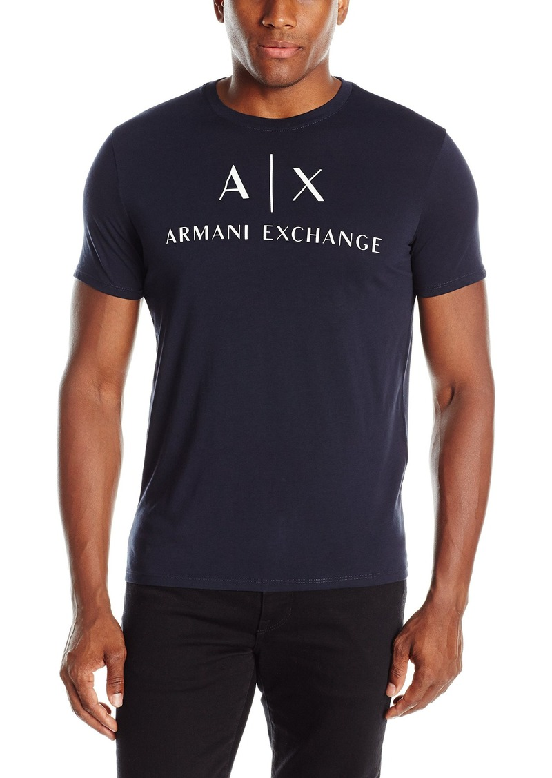 A|X Armani Exchange Men's Core Pirati Ax Logo Crew Neck T-Shirt
