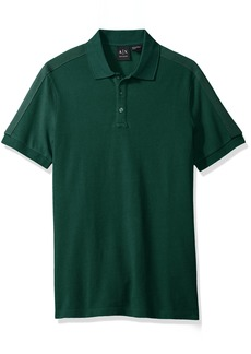 A|X Armani Exchange Men's Core Ss Polo with Sleeve Taping Detail