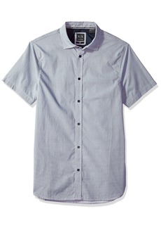 A|X Armani Exchange Men's Cotton Button Down Shirt White/Navy M
