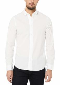 A|X Armani Exchange Men's Cotton Dobby Long Sleeve Button Down Shirt  S
