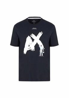 A|X Armani Exchange Men's Cotton Jersey T-Shirt with Man Painting AX Print  M