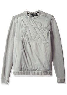 A|X Armani Exchange Men's Cotton Pullover with Padded Logo