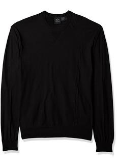 A X Armani Exchange Men's Cotton Solid Pullover  XL