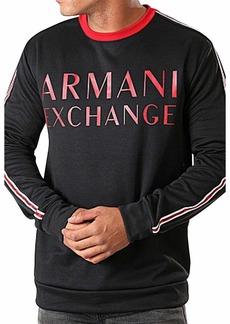 A|X Armani Exchange Men's Crew Neck Pullover with Sleeve Stripe  S